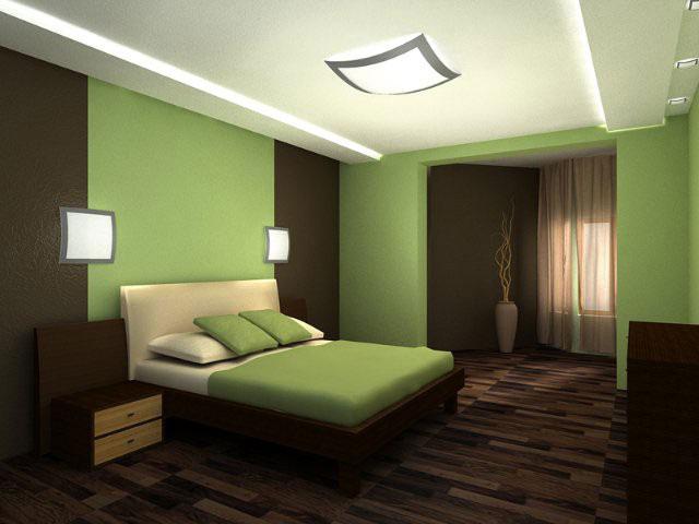 направленный свет над кроватью в спальне