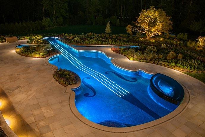 подсветка бассейна светодиодной лентой как сделать самому