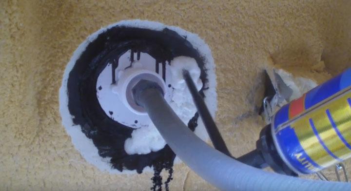 восстановление теплоизоляции бассейна после установки подсветки
