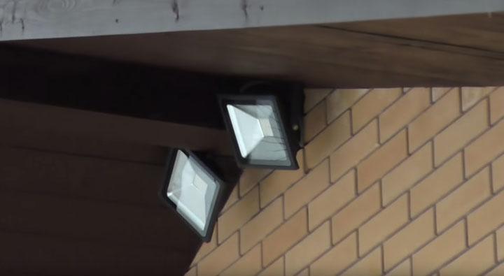 прожектор для освещение придомовой территории и их углы рассеивания