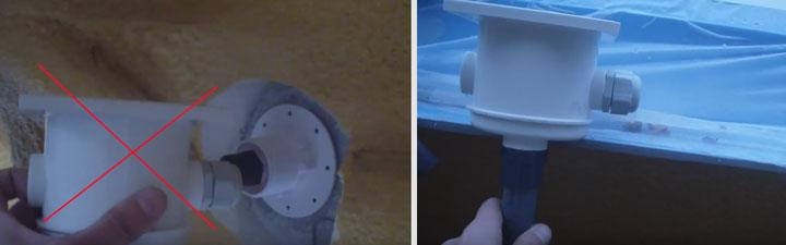 где должна располагаться распределительная коммутационная коробка питания для подсветки бассейна