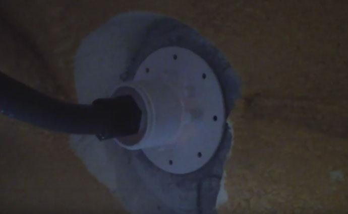 шланг для герметичности кабеля от закладной до коробки питания светильника