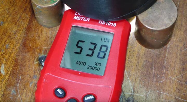 измерение яркости на светодиодной матрице плохого качества