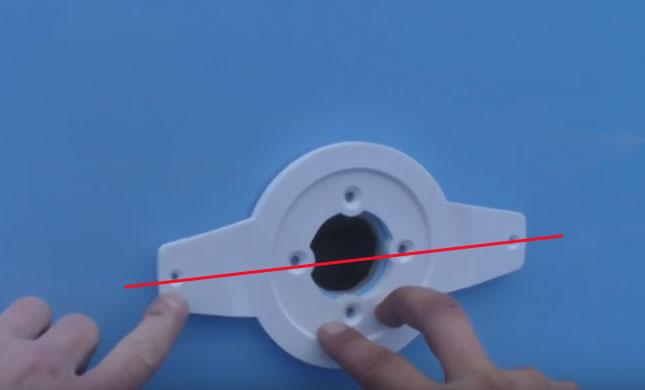 как размещать закладную для подводного светильника