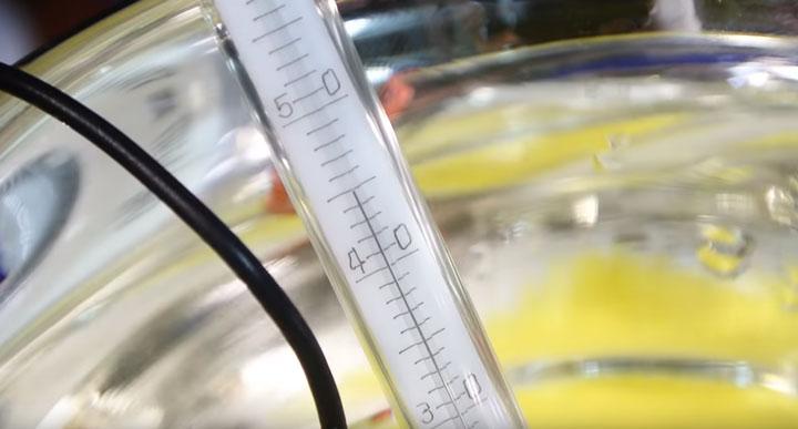 температура воды после нагрева светодиода