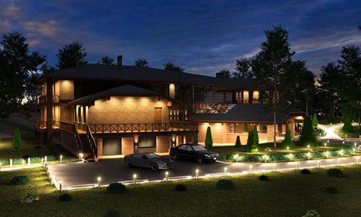 уличное освещение загородного дома и дачи какие светильники выбрать
