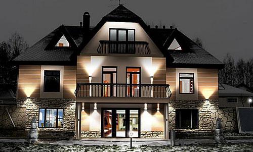 подсветка зданий прожекторами