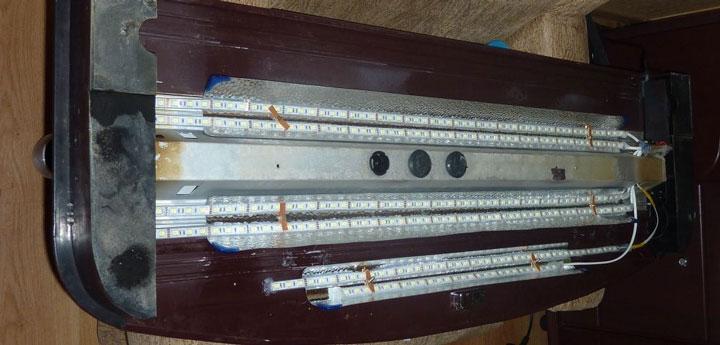 светодиодная лента в крышке аквариума