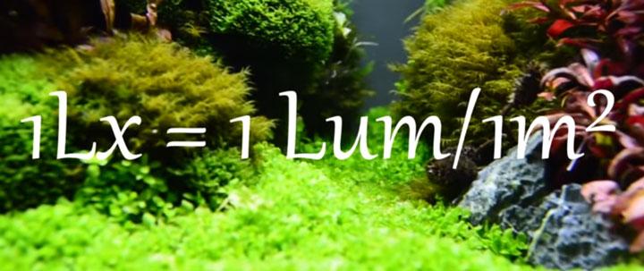 формула расчета люксов для аквариума