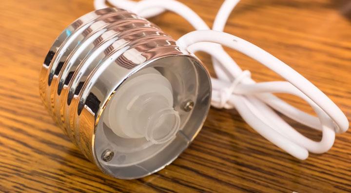 цоколь испаритель с подсветкой от лампочки увлажнителя воздуха