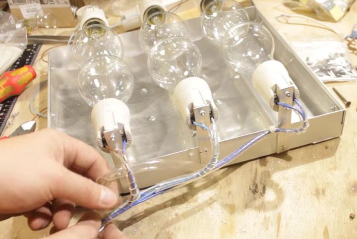 изолирование проводников для подключения инфракрасного обогревателя из лампочек