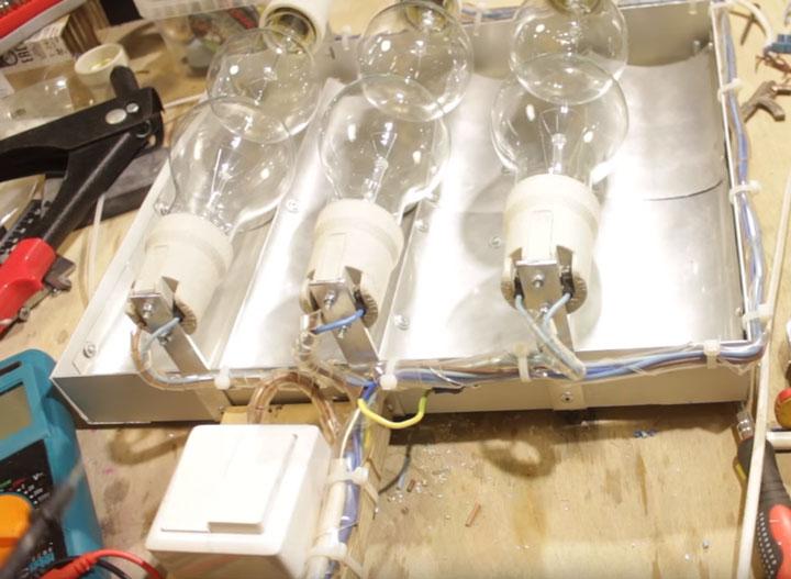 подключение инфракрасного самодельного обогревателя через двухклавишный выключатель света
