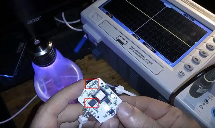 схема управления лампочкой увлажнителем ночником