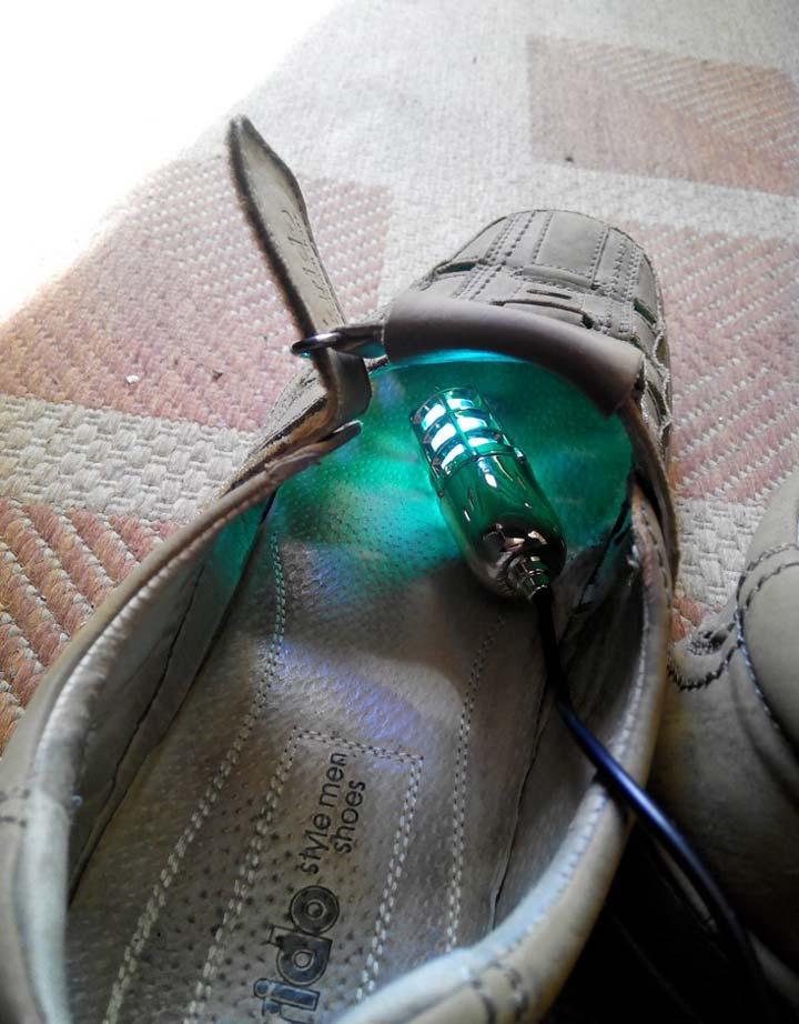 как сушить обувь ультрафиолетовой лампой