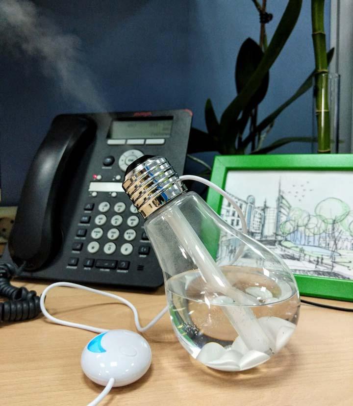 увлажнитель лампочка ночник для рабочей зоны