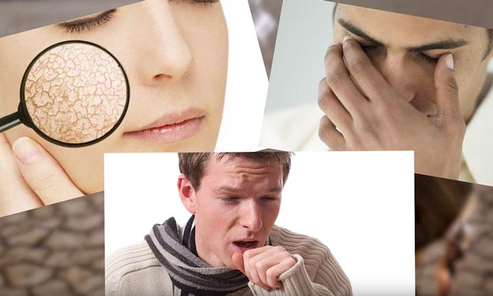 симптомы и болезни при малой влажности помещения как бороться