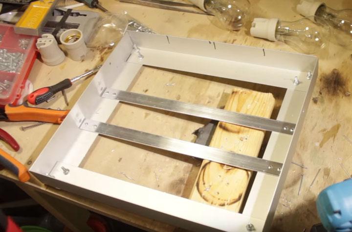 сборка рамки для самодельного инфракрасного обогревателя