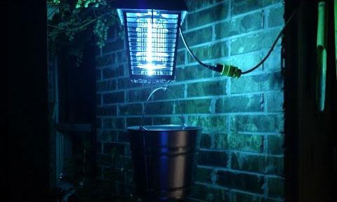 где размещуать и устанавливать лампы от комаров