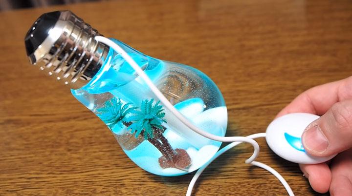 как работает ультразвуковой увлажнитель воздуха ночник