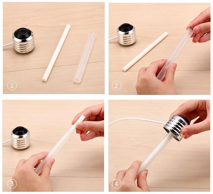как заменить фильтр для лампочки ночника