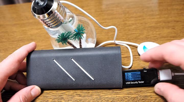 сколько мощности потребляет ультразвуковой увлажнитель лампочка