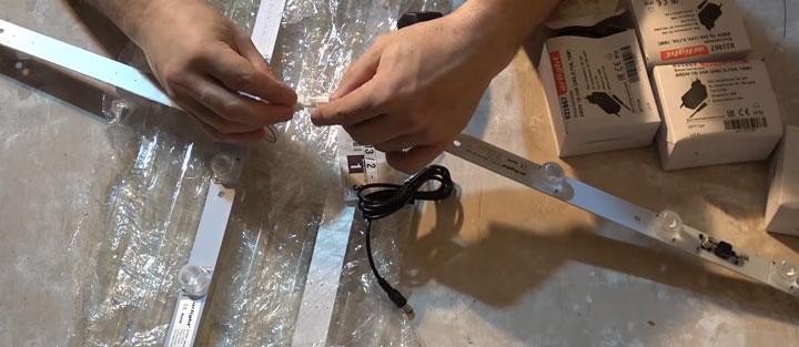 как нарастить светодиодные модули арлайт для лампы косого света