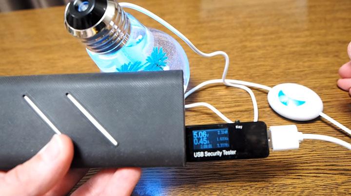 замер мощности лампочки увлажнителя воздуха и ночника подсветки