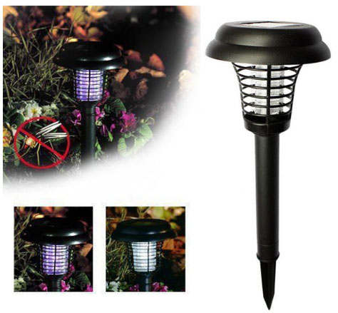 уличная лампа от комаров на солнечных аккумуляторах