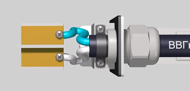 подключение кабеля к контактам датчика фотореле
