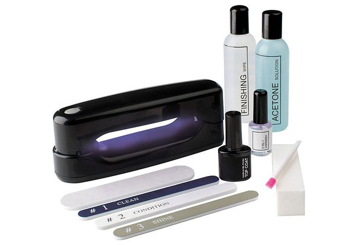 разновидности гелй и лаков для сушки в ультрафиолетовых лампах для маникюра
