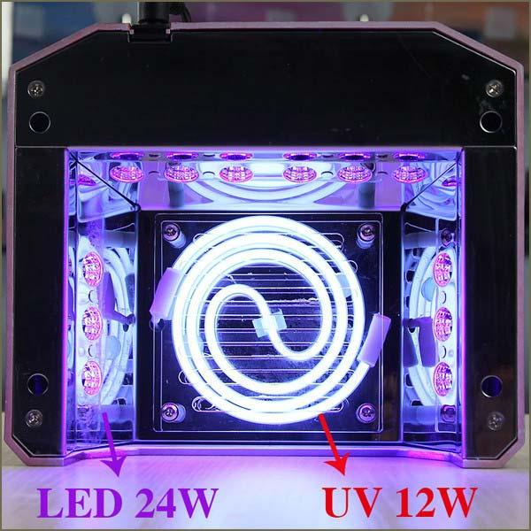 гибридная CCFL+Led лампа для сушки гель лаков