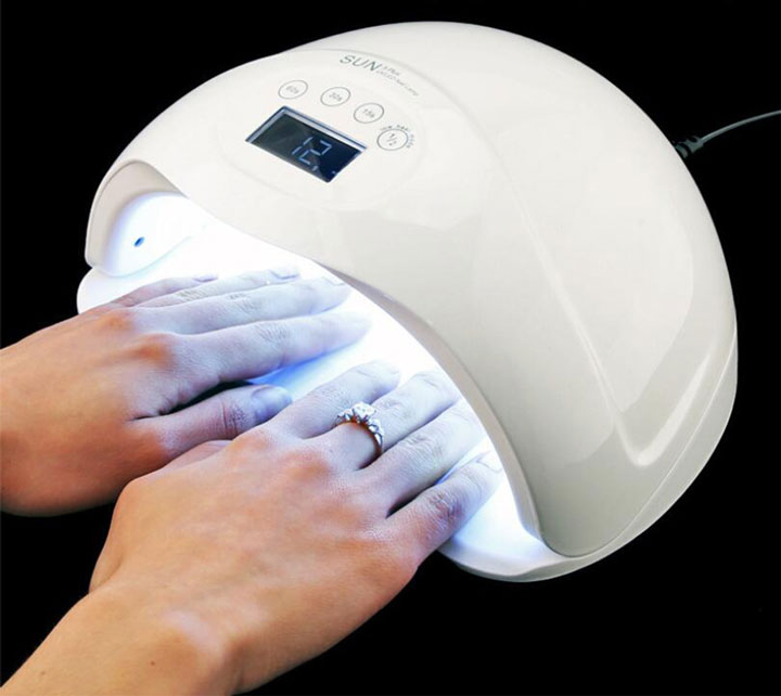 гибридная UV Led лампа для сушки ногтей