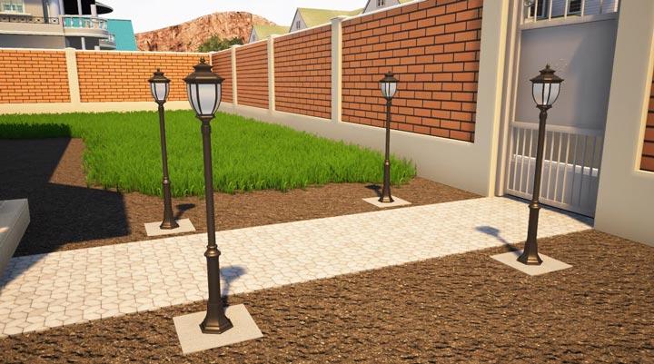 монтаж уличного освещения в загородном доме