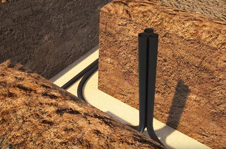 как проложить трубы пнд для подземного кабеля освещения