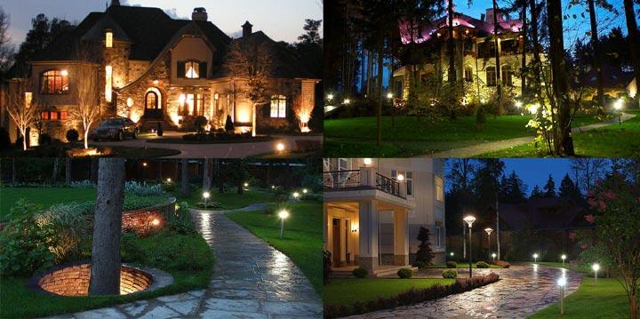 уличные светильники для загородного дома или дачи