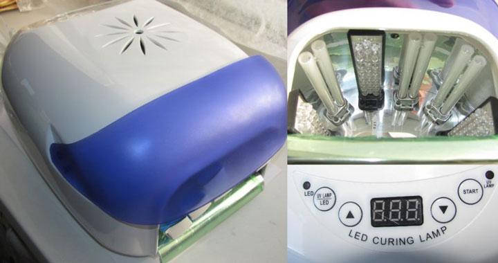гибридная ультрафиолетовая и светодиодная лампа для маникюра