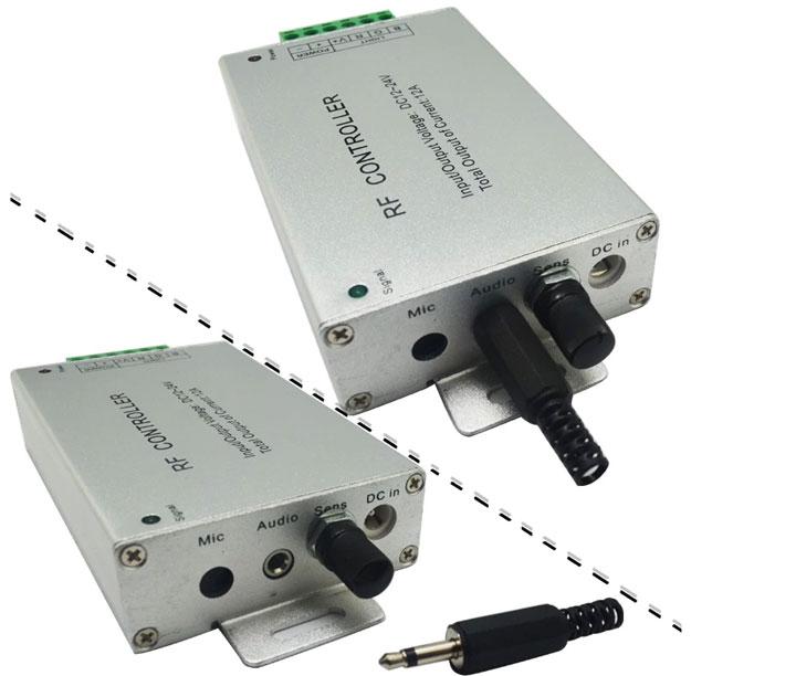 подключение разъема jack 3,5мм для цветомузыкального контроллера