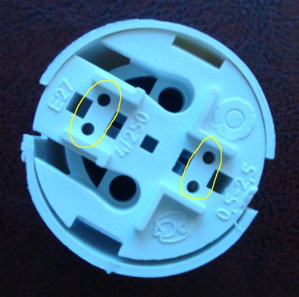 куда правильно подключать провода в пластиковом быстрозажимном патроне