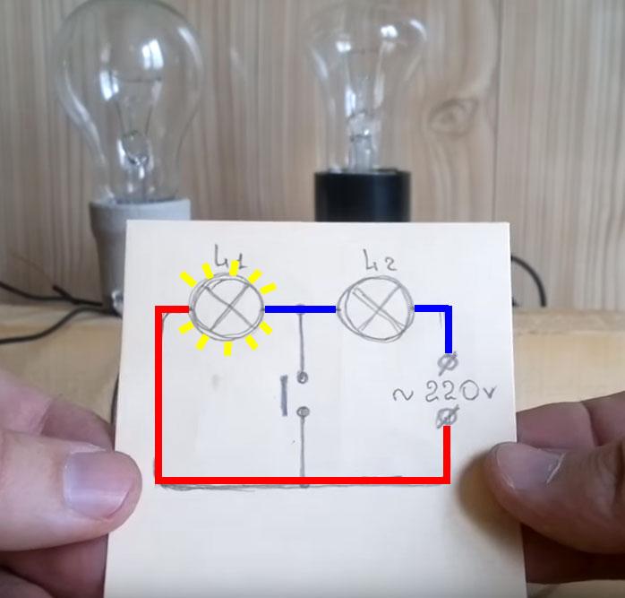 почему лампочки не тухнут при отключении света неправильная схема сборки одноклавишного выключателя