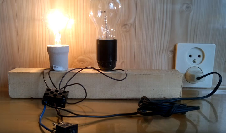 Как параллельно подключить два светильника