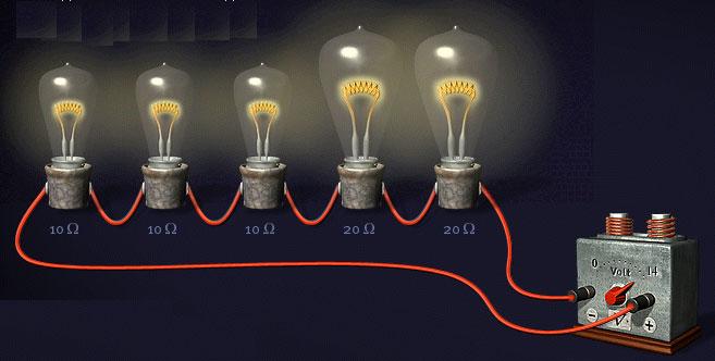 последовательное подключение лампочек в цепи освещения
