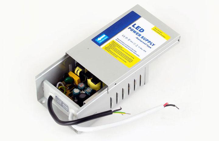 внутренне устройство полугерметичных моделей блоков питания светодиодных лент