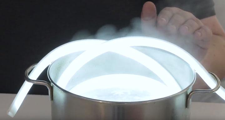 светодиодная термолента в кипятке