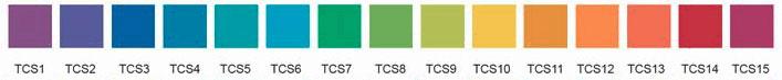 15 цветов насыщенных шаблонов для измерения индекса цветопередачи CQS