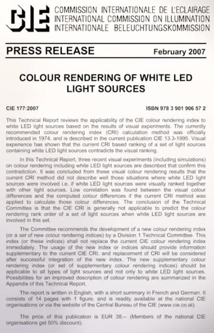 почему нельзя использовать CRI для светодиодных ламп