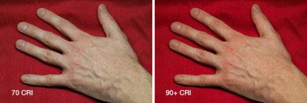 влияние индекса CRI на цвет кожи человека