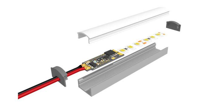 сенсорный диммер для светодиодрной ленты в алюминиевый профиль