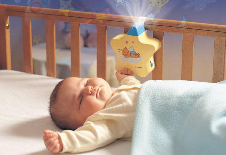 ночной светильник в кроватку для младенца
