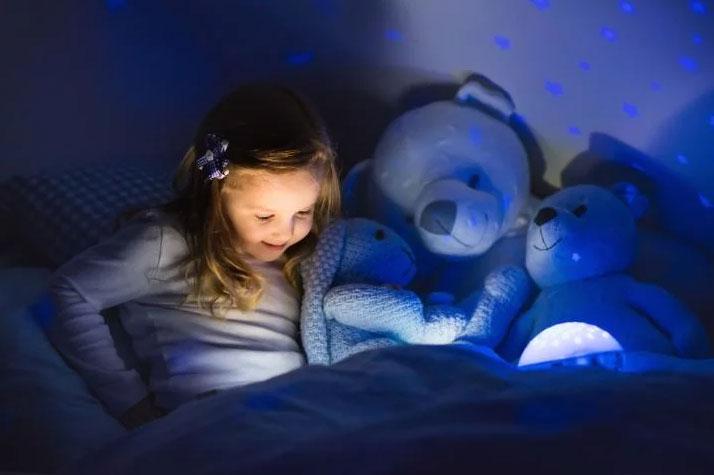 светильник ночник в детскую комнату от батареек