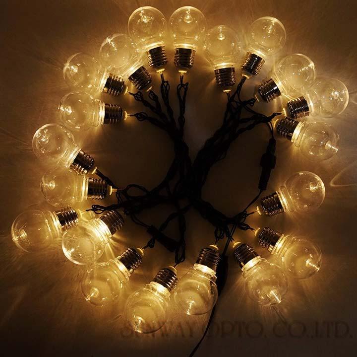 ретро гирлянда с лампочками накаливания